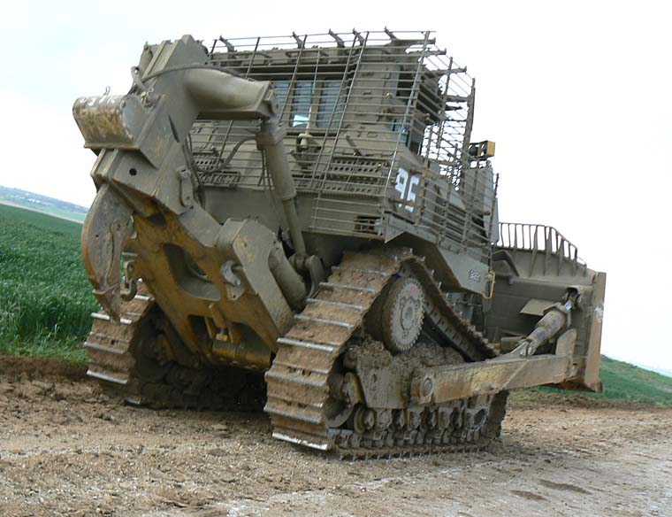 armored bulldozer